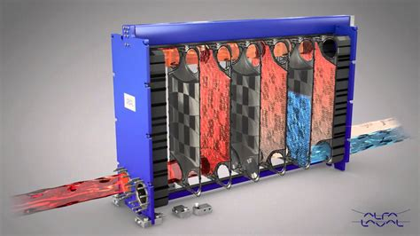 Alfa Laval 2-pass gasketed plate-and-frame heat exchanger