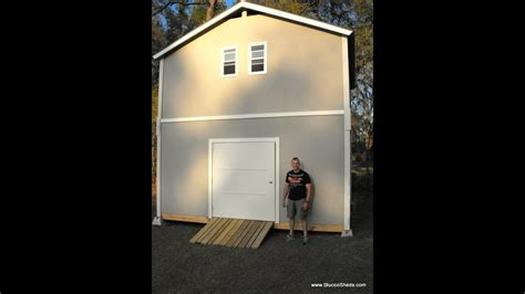 2 story shed/cabin/barn-assembled in 1 day-prefab elements