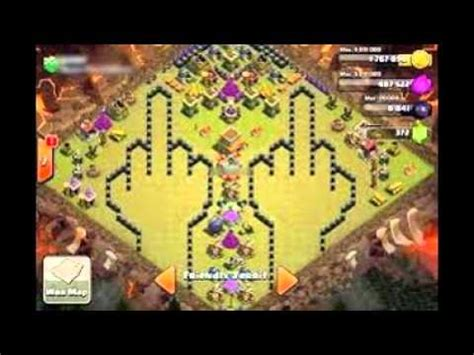 les pire village wtf clash of clan - YouTube