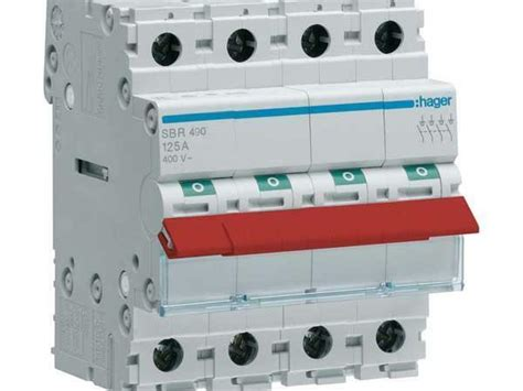 Hager CHANGEOVER SWITCH SF115 2-Poles 250V 25A Rated