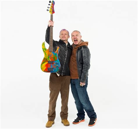 damien hirst + flea from red hot chili peppers spun bass
