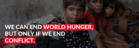 We CAN end hunger — but only if we end conflict - World